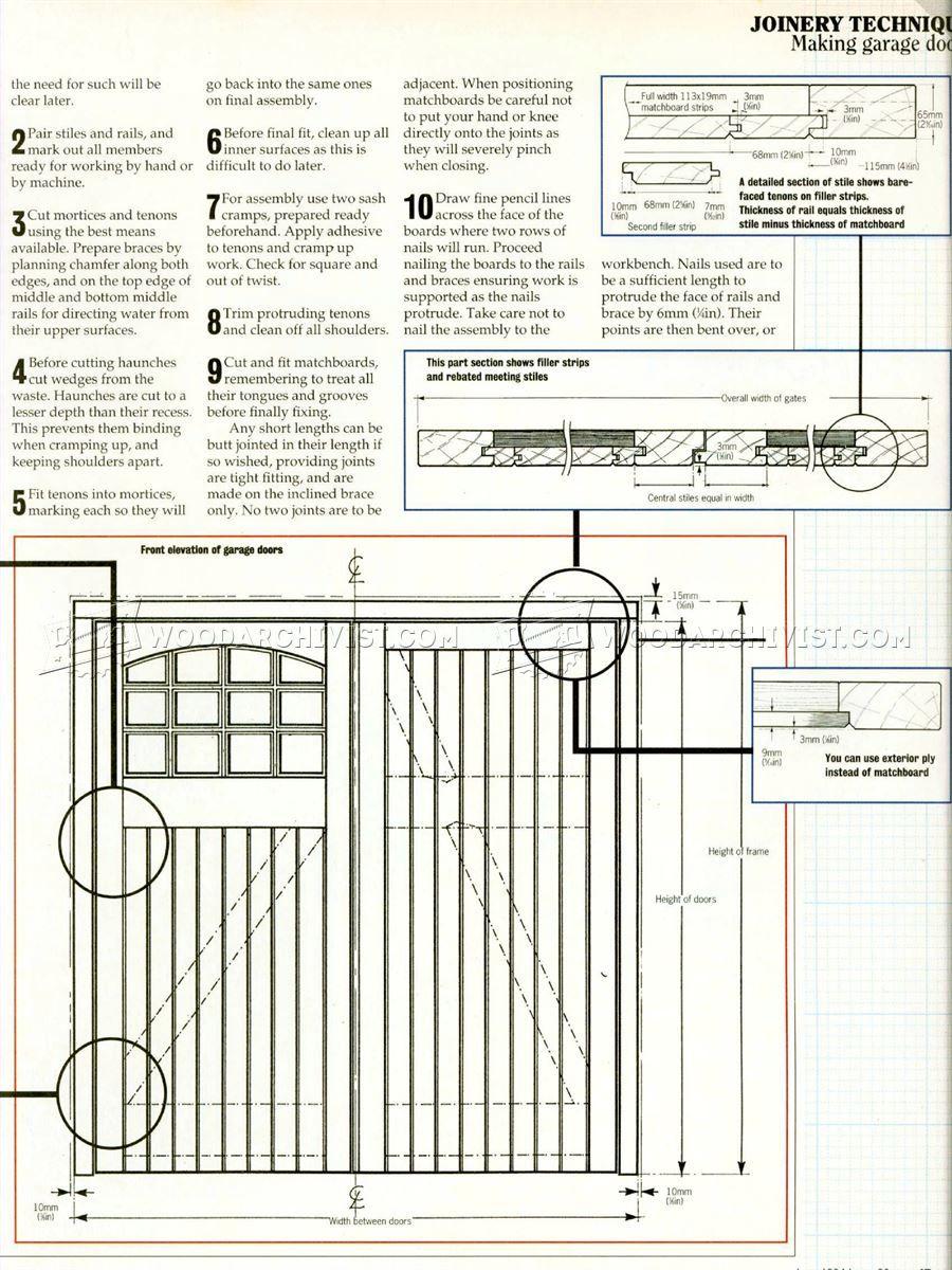 258 Garage Door Plans Door Construction Door Plan Garage Doors Shop Doors