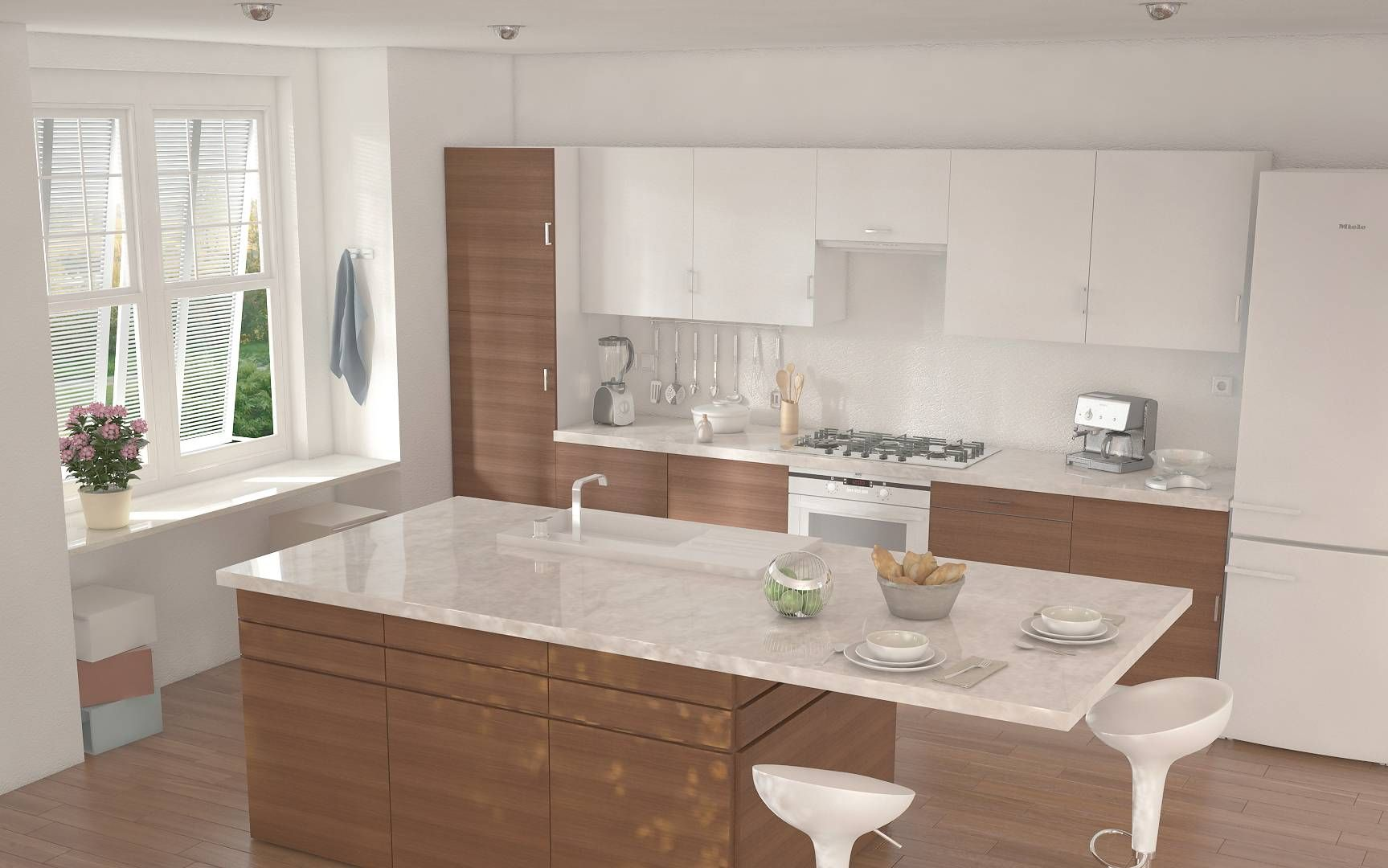 cucina con isola centrale ikea  Cerca con Google  Cucina