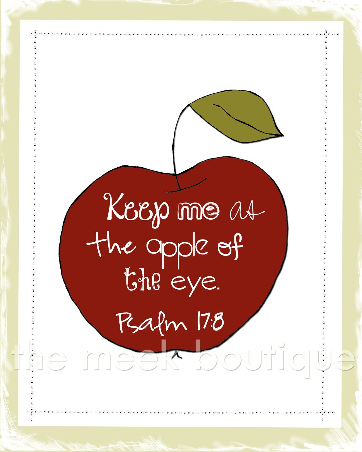 Apple Of My Eye Scripture Art Psalms Printable No 2