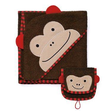 Zoo Towel and Mitt Set - Monkey See, Monkey Do! Kids love hiding ...