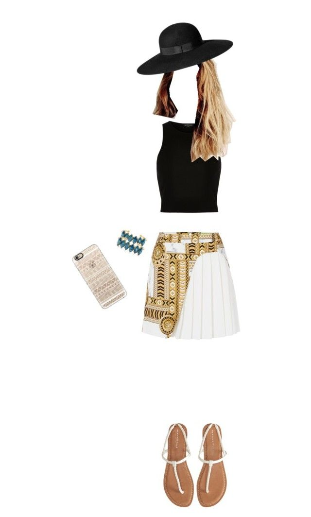 """""""Coachella"""" by queenweirdcass on Polyvore featuring Versace, River Island, Aéropostale, Elizabeth Cole, H&M and Casetify"""