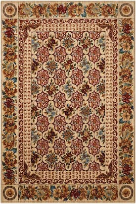 Nourison Multi Timeless Tml13 Rug Country Floral Rectangle 8 6 X 11 6 Area Rugs Floral Rug Rugs