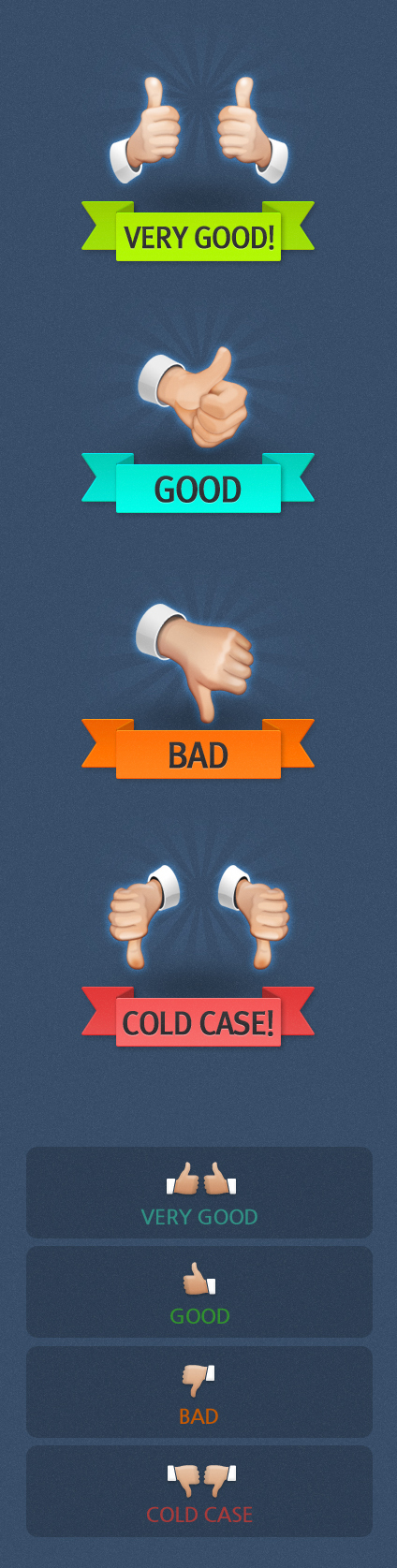 Thumb-Up Icon Set