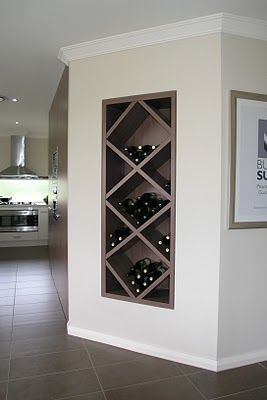 built in wine nook..love this but could you really make it work with the depth needed for a wine bottle?