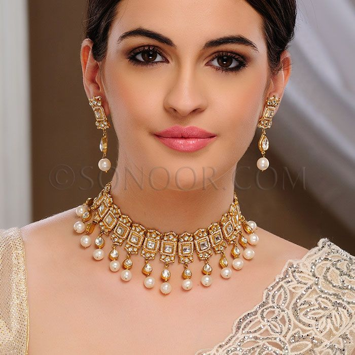 Image Result For Tamanna Jewellery White And Gold Indian Wedding
