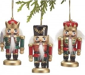 Assorted hand-painted-wood nutcrackers - BV Decor.