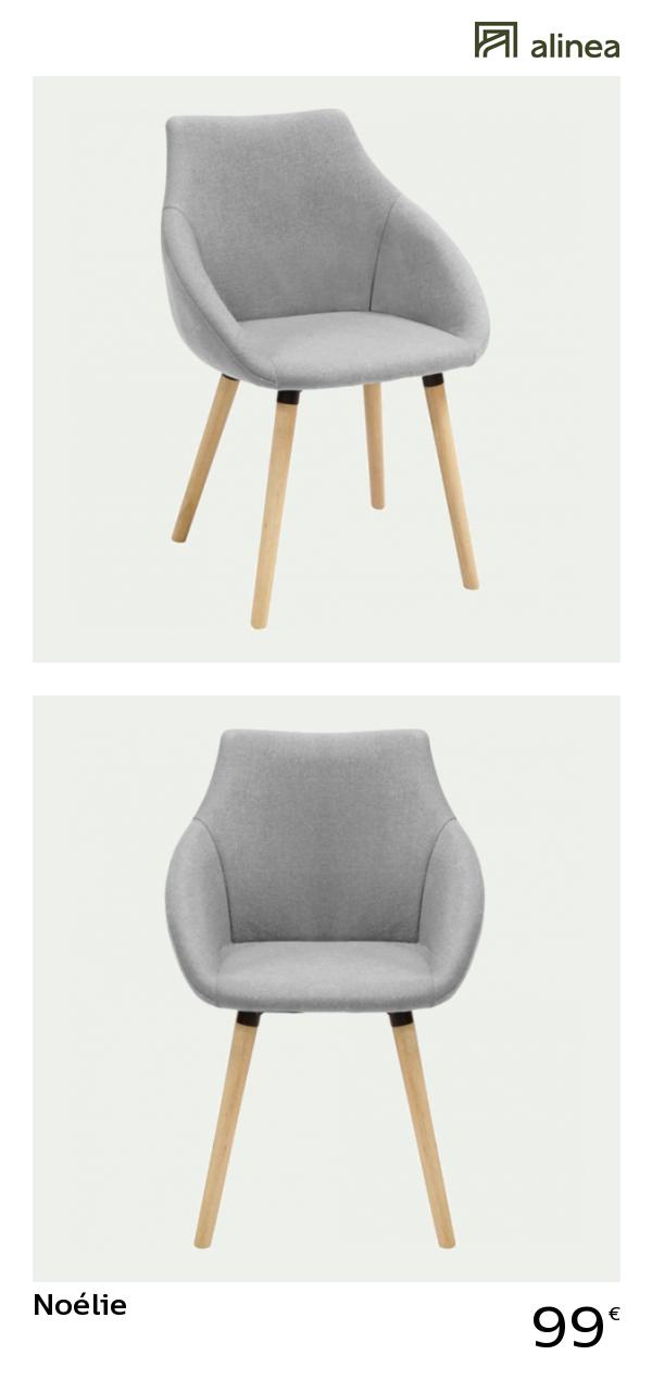 chaise en tissu gris clair avec