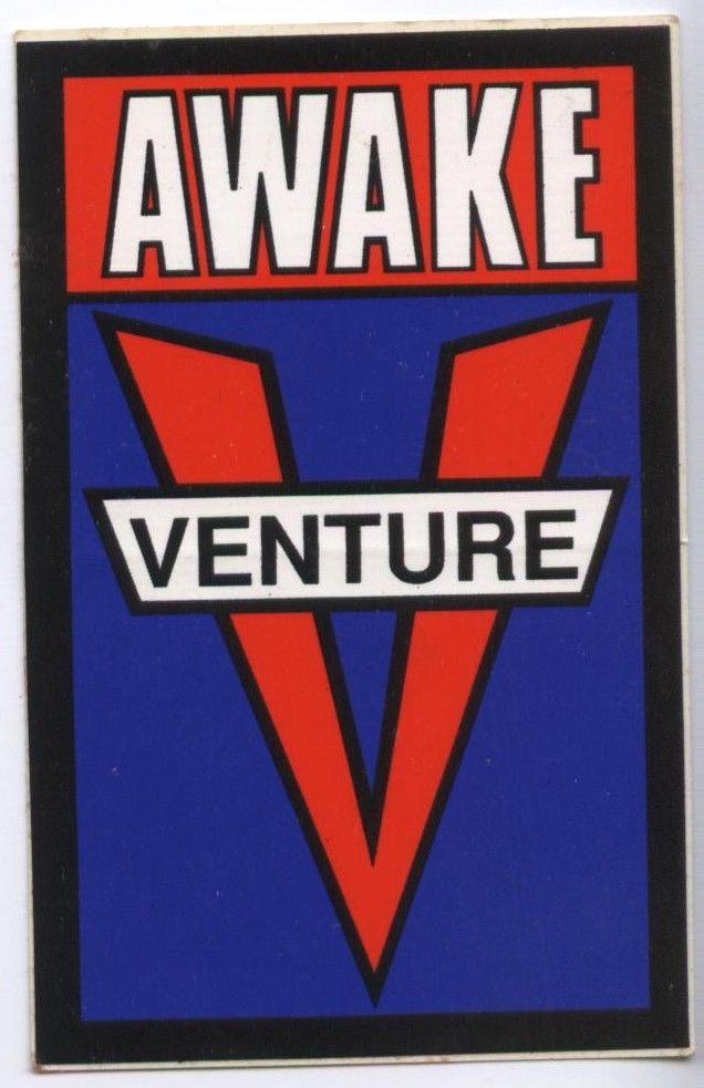 VENTURE TRUCKS 80/'s vtg Skateboard sticker original print