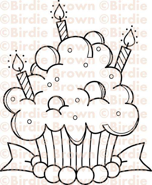 Cupcake - Candy.   색칠하기   Pinterest   Colorear, Dibujo y Molde