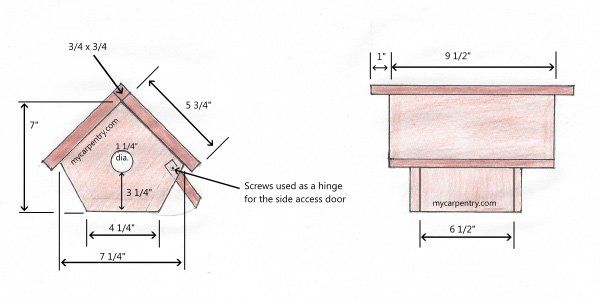 Wren Bird House Bird House Plans