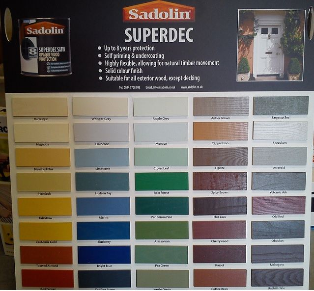Looking For An Upgrade Around The House Look No Further Amazing Colours From Sadolin Superdec