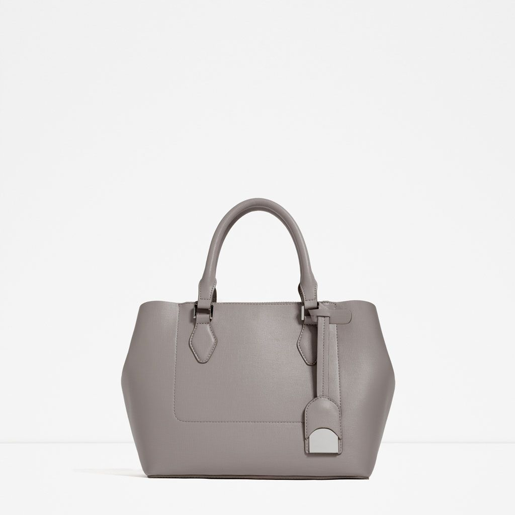 Image 1 of CITY BAG WITH ZIP from Zara   Wish List   Pinterest ... : zara quilted city bag - Adamdwight.com
