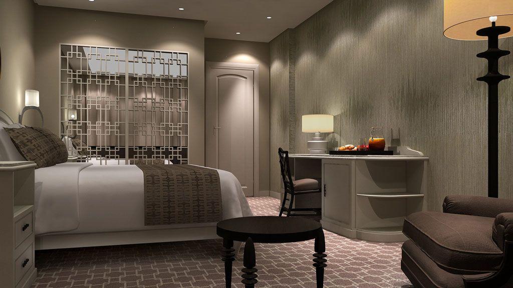 Render interior hotel bahia habitaciones opci n 2 for Modelar habitacion 3d max
