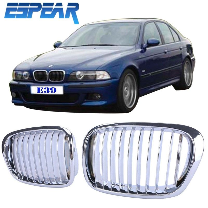 2pcs Chrome Kidney Hood Front Grille Grill For Bmw E39 5 Series 1997 2003 With Retail Package 945 Affiliate Bmw E39 Sport Cars Bmw