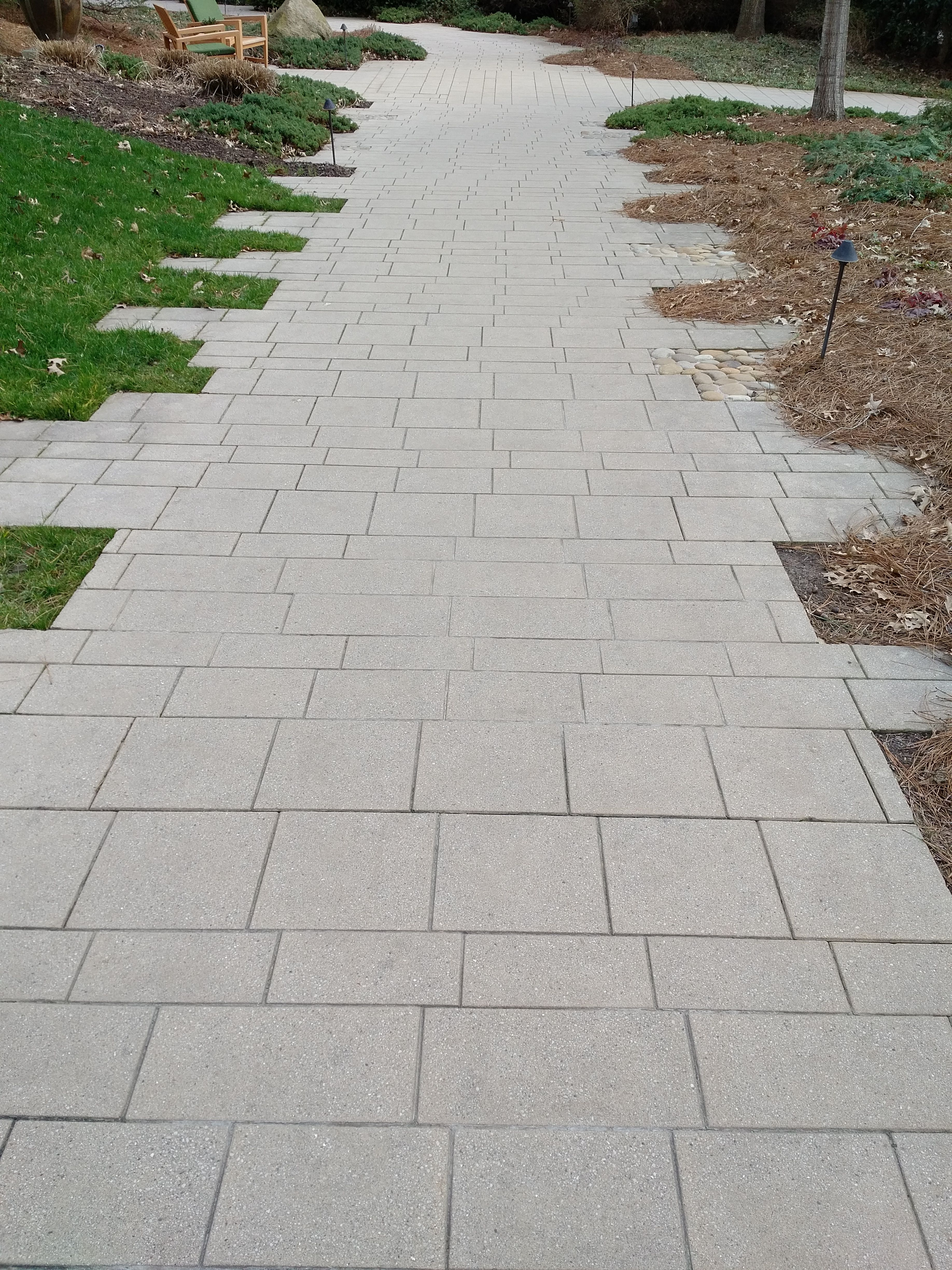 Scored Concrete Path At Umstead Hotel 2 2 17 Cary Nc Concrete Path Hardscape Old Houses