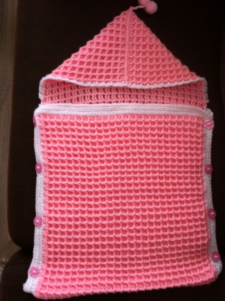 Slaapzak Wafelsteek Baby Crochet Crochet Crochet Baby Crochet