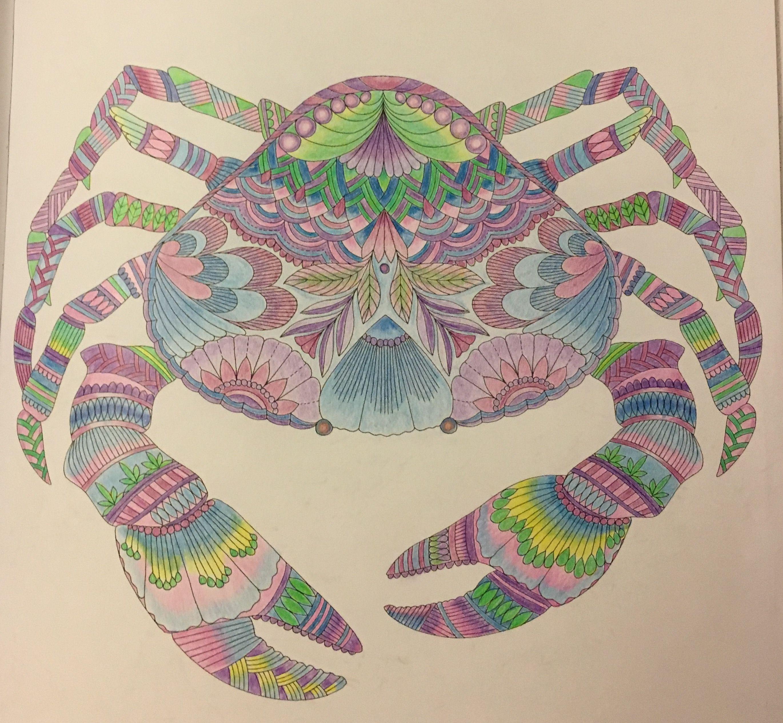millie marotta u0027s tropical wonderland crab coloring book