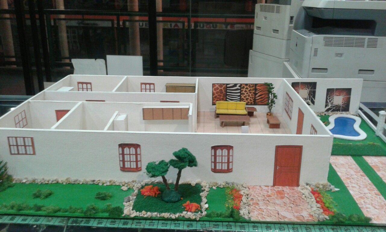 Casa Con Piscina Yojhana Bastidas Maquetas 2