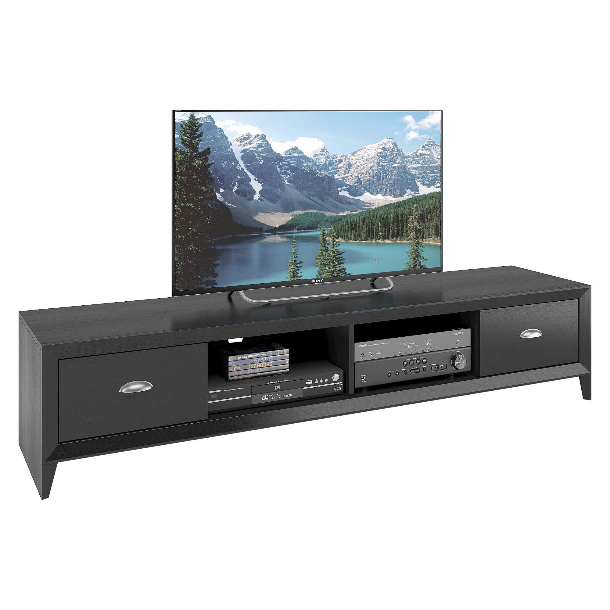 "Lakewood Extra Wide TV Bench Black 80"" - CorLiving ..."
