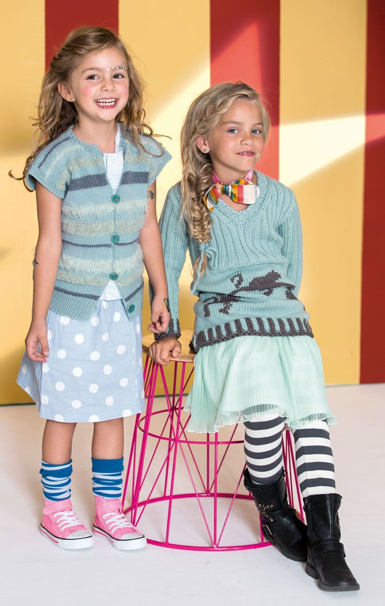 Lana Grossa WESTE Cool Wool/Bombolino Lux/Splendid/Peppina - FILATI Kids & Teens No. 6 - Modell 18 | FILATI.cc WebShop