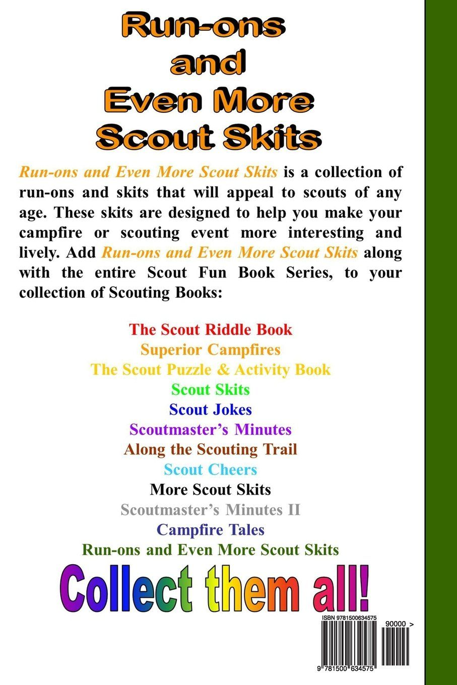 collect them all!!! scout skits, jokes, riddles, cheers, stories and