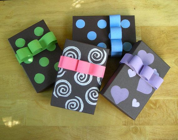 Hand Painted Recycled Jewelry Gift Boxes with by AletaOrganic 725
