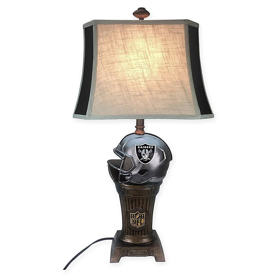 Nfl Oakland Raiders Trophy Lamp Multi Table Lamp Novelty Lamps Nfl New England Patriots