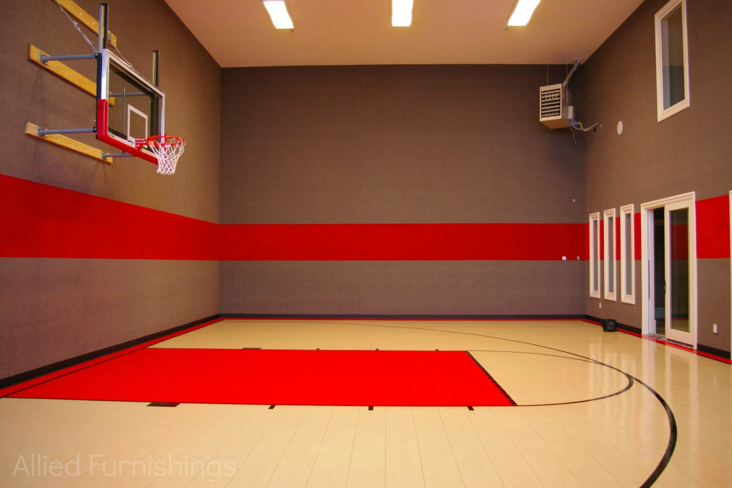 Indoor Sports Court Home Basketball Court Home Gym Flooring