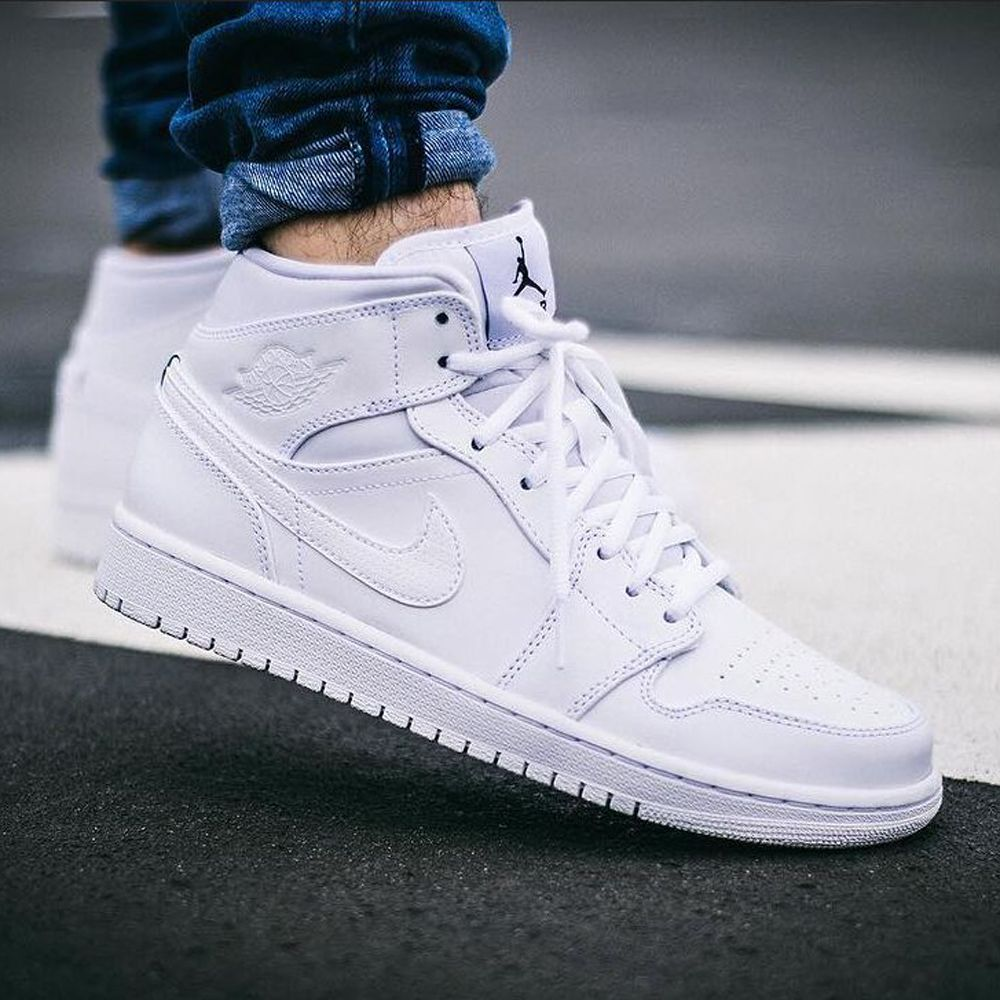Nike Air Jordan 1 Mid (554724-110) White USD110 on Sale #solecollector  #dailysole #kicksonfire #nicekicks #kicksoftoday #kicks4sales #niketalk ...