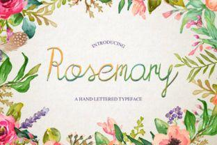 Rosemary | fonts | Fonts, Stencil font, Handwriting fonts