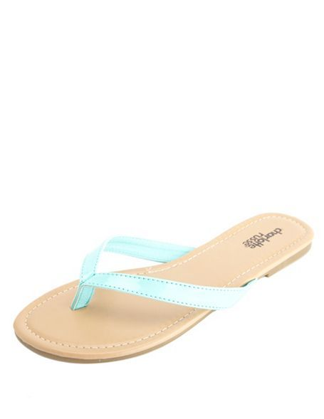 289f999c9acb Vegan Patent Thong Sandals  Charlotte Russe