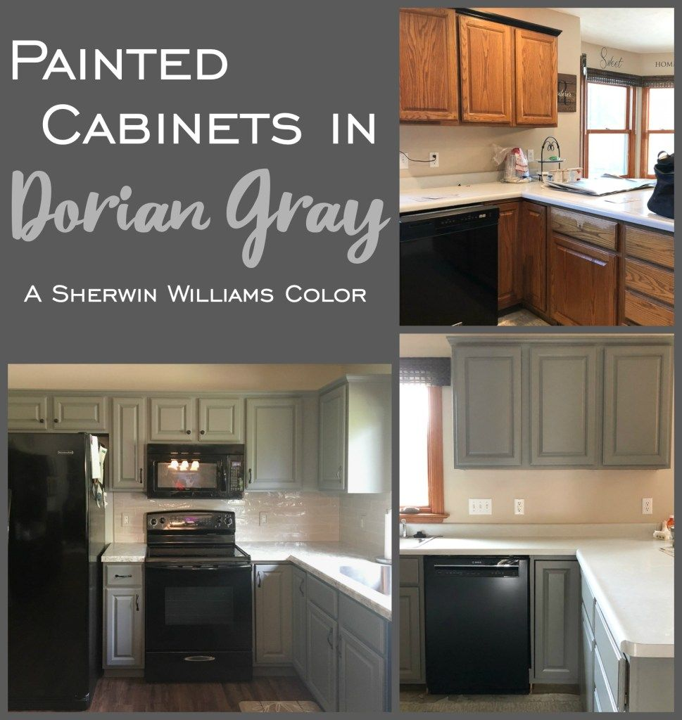 Painted Kitchen Cabinets In Sherwin Williams Dorian Gray Painting Kitchen Cabinets Grey Kitchen Cabinets Kitchen Paint