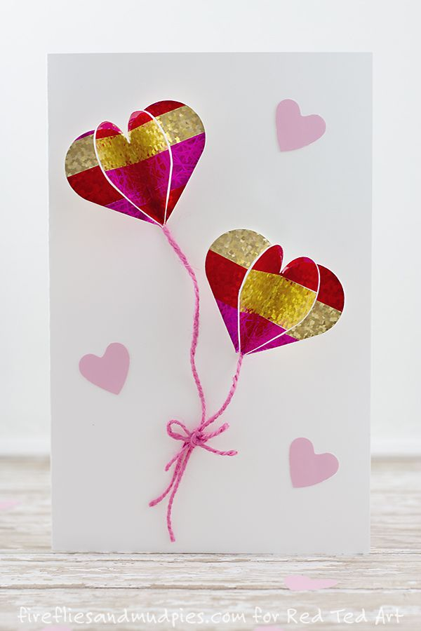 Diy 3d Heart Card Adorable 3d Heart Balloons These Are Super Cute And Fun To Make P Valentines Cards Valentine Cards Handmade Easy Diy Valentine S Day Cards
