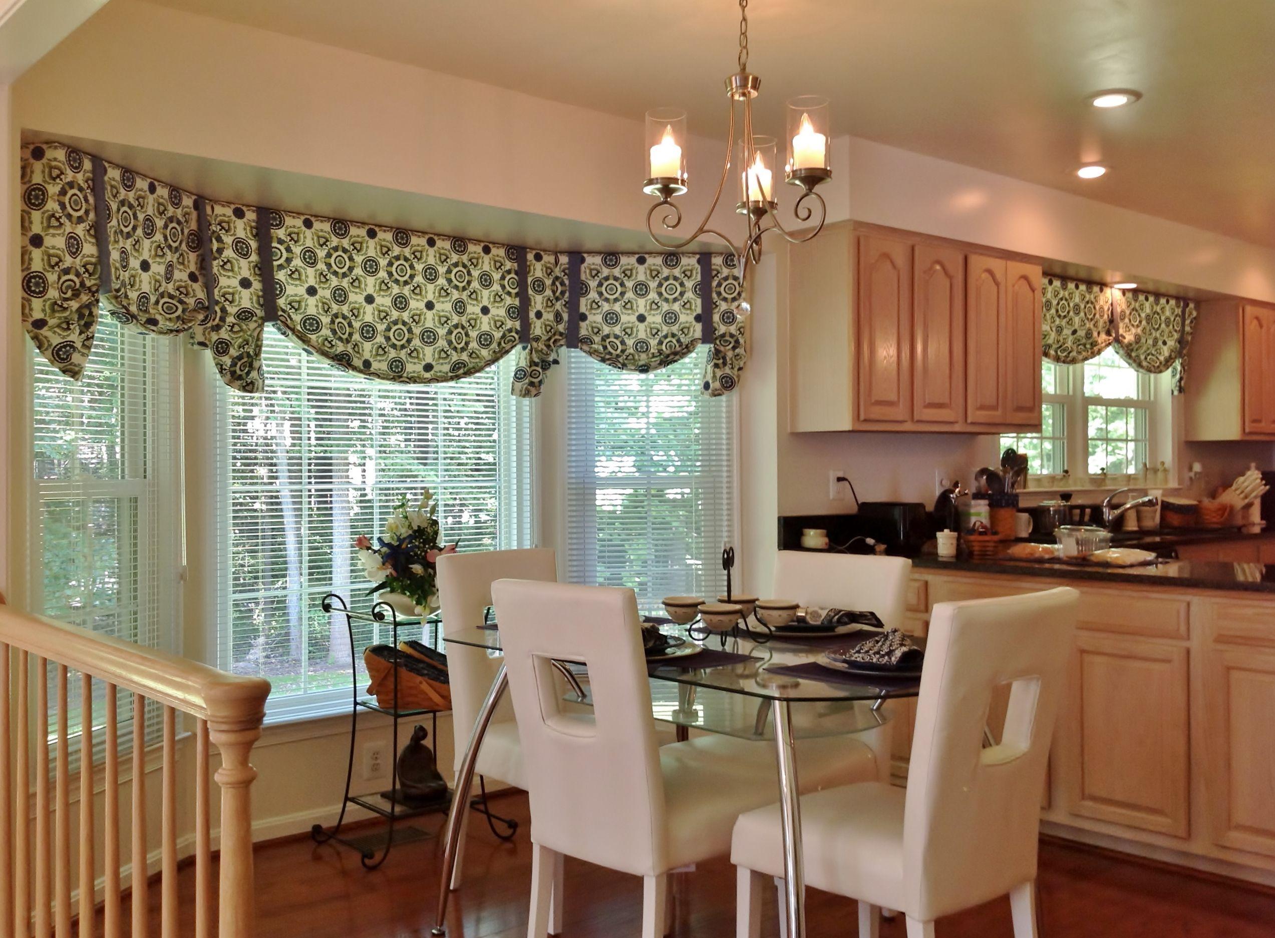 bay window kitchen curtains and window treatment valance ideas with rh pinterest ca