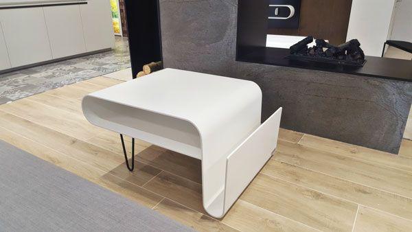 Table Basse Manhattan Blanc Gris L1053 X P750 X H498mm Table Basse Table Basse Blanc Solid Surface