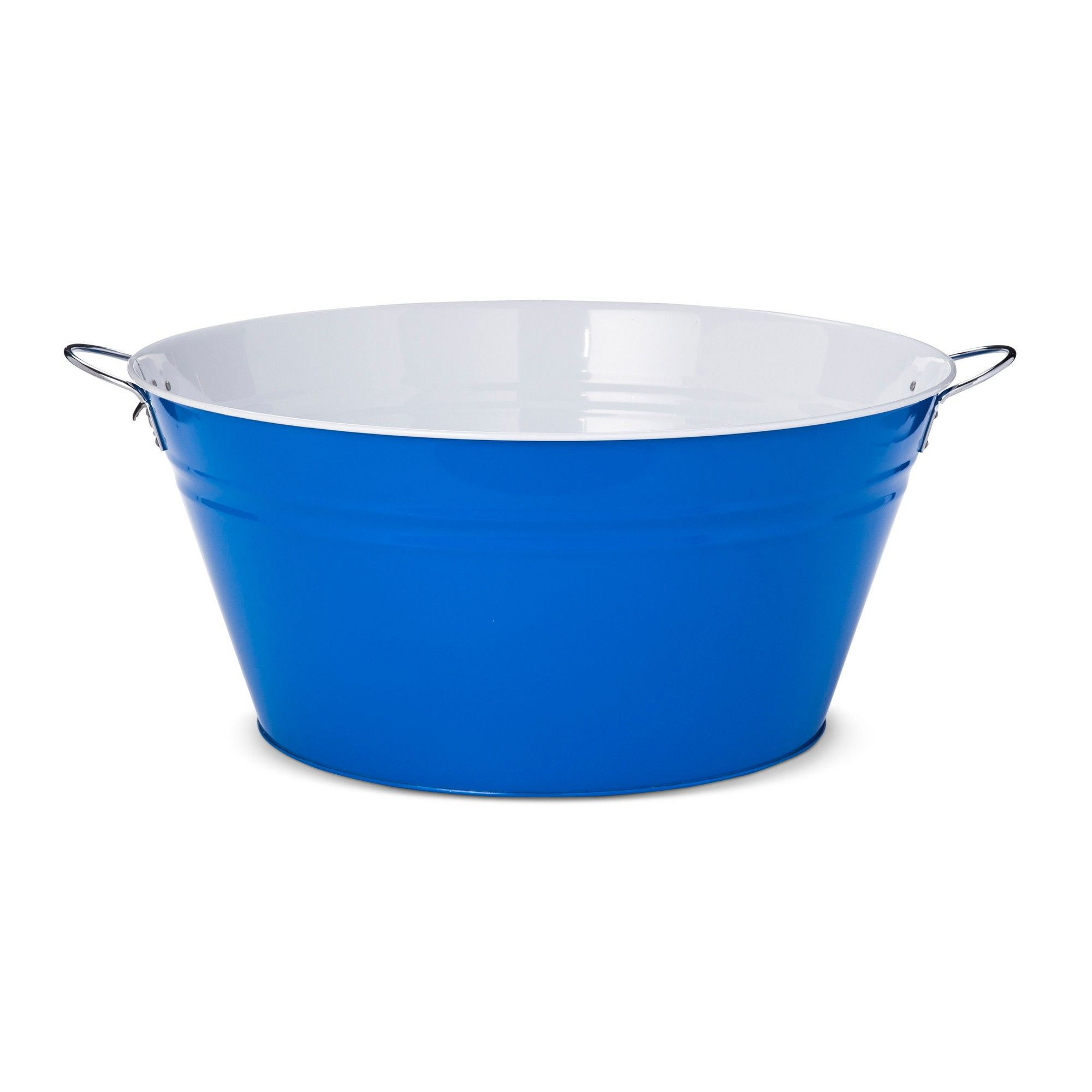 11.9gal Steel Beverage Tub - Blue/White | Tubs, Steel and Products