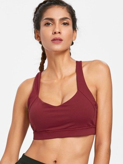 3ab5e5bf77d24 Mesh Racerback Mid Impact Sports Bra in 2019