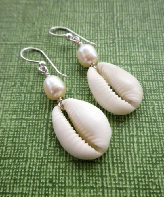 Beautuful handmade shell earrings from Aran Islands