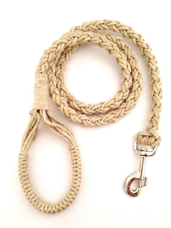 Super Soft Hemp Dog Collar /& Lead Set Rose Gold