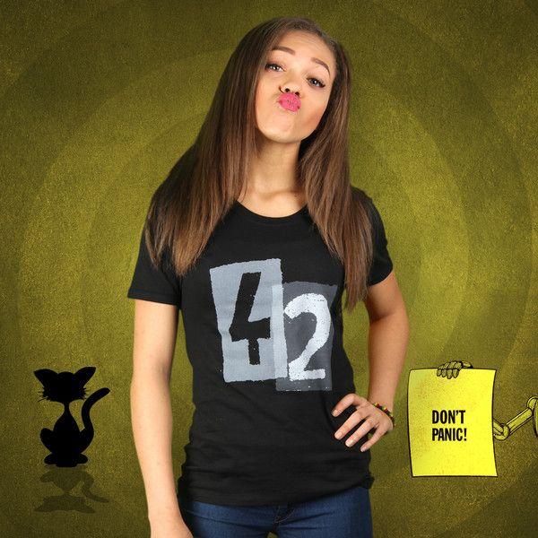 T-Shirts mit Print - Der Frage ihre Antwort (Damen T-Shirt) - ein Designerstück von KaterLikoli bei DaWanda