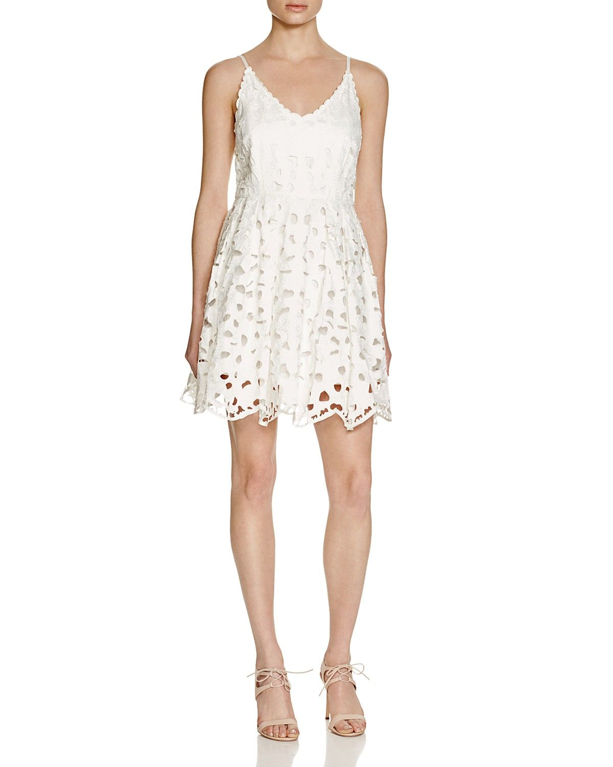 c982c1634ba Lucy Paris Laser Cut Cami Dress - Bloomingdale s Exclusive White Dress