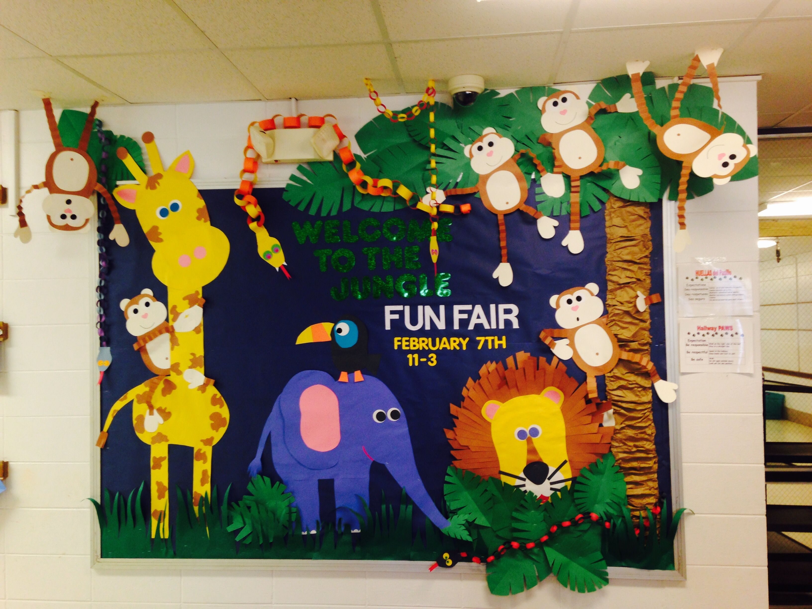 Jungle Fun Fair Bulletin Board