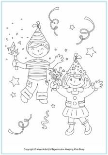 New Year Colouring Page Kids New Year Coloring Pages Free Kids Coloring Pages Christmas Coloring Pages