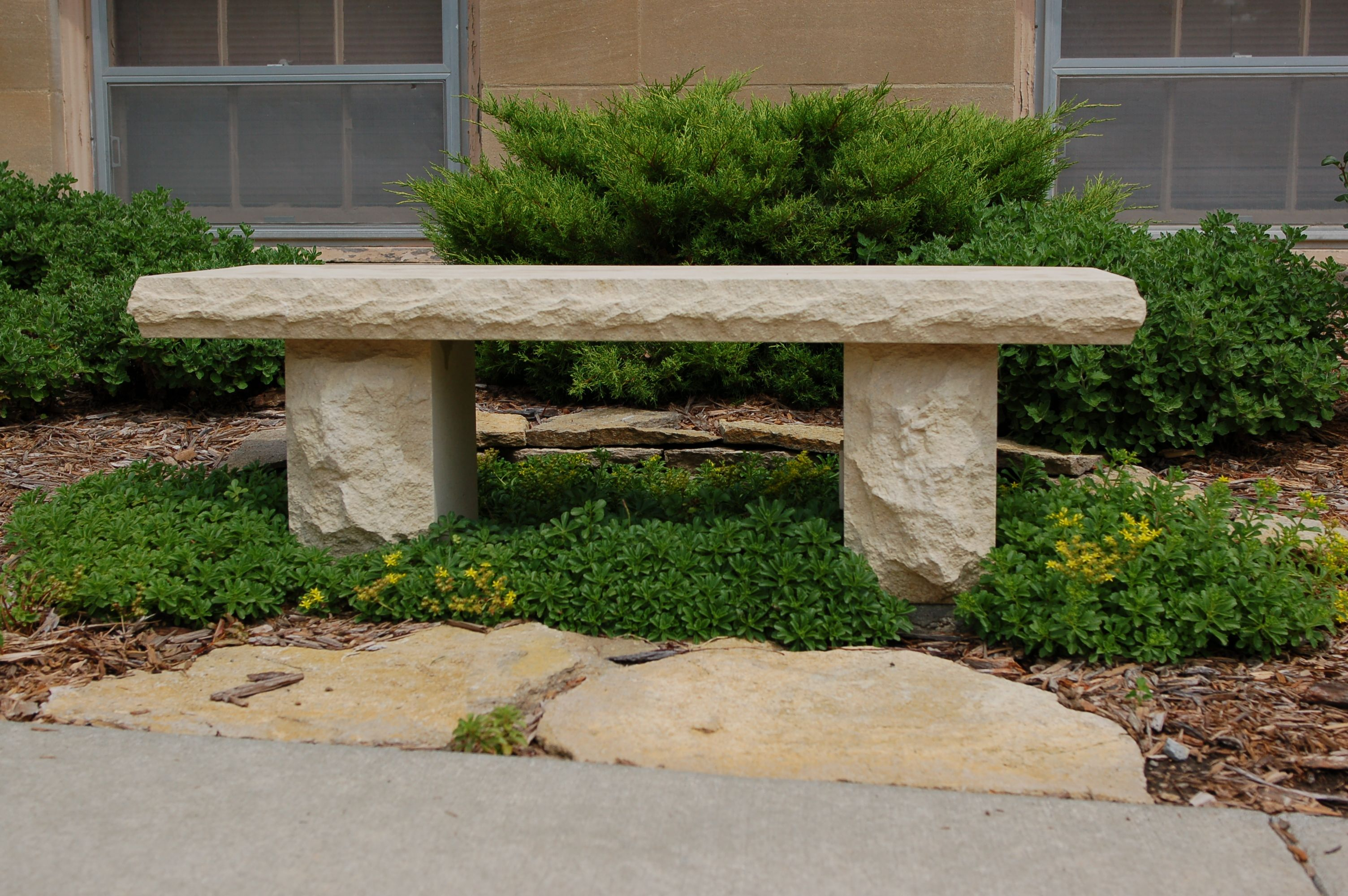 Exceptional Limestone Bench Part - 2: Cut Limestone Bench #TopekaLandscape
