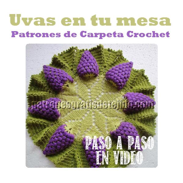 Patrones gratis de carpeta racimos de uva tejida con ganchillo ...