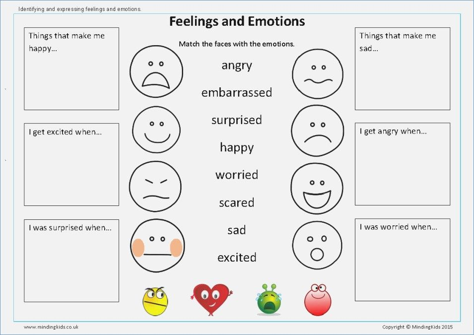 Image result for feelings and emotions worksheets