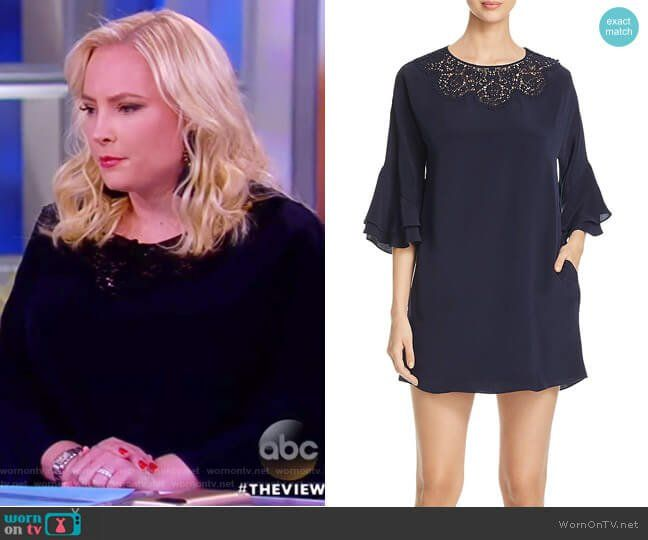 Meghan Mccain Wears Marchesa Wedding Dress: KOBI HALPERIN - Fatima Flounce Sleeve Dress