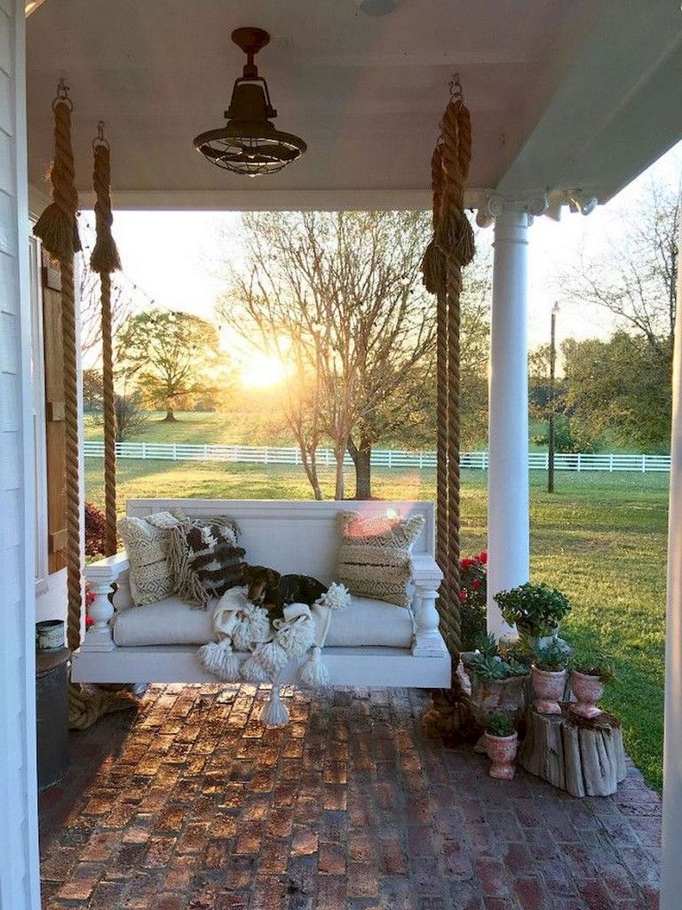 Farmhouse Bench With Back