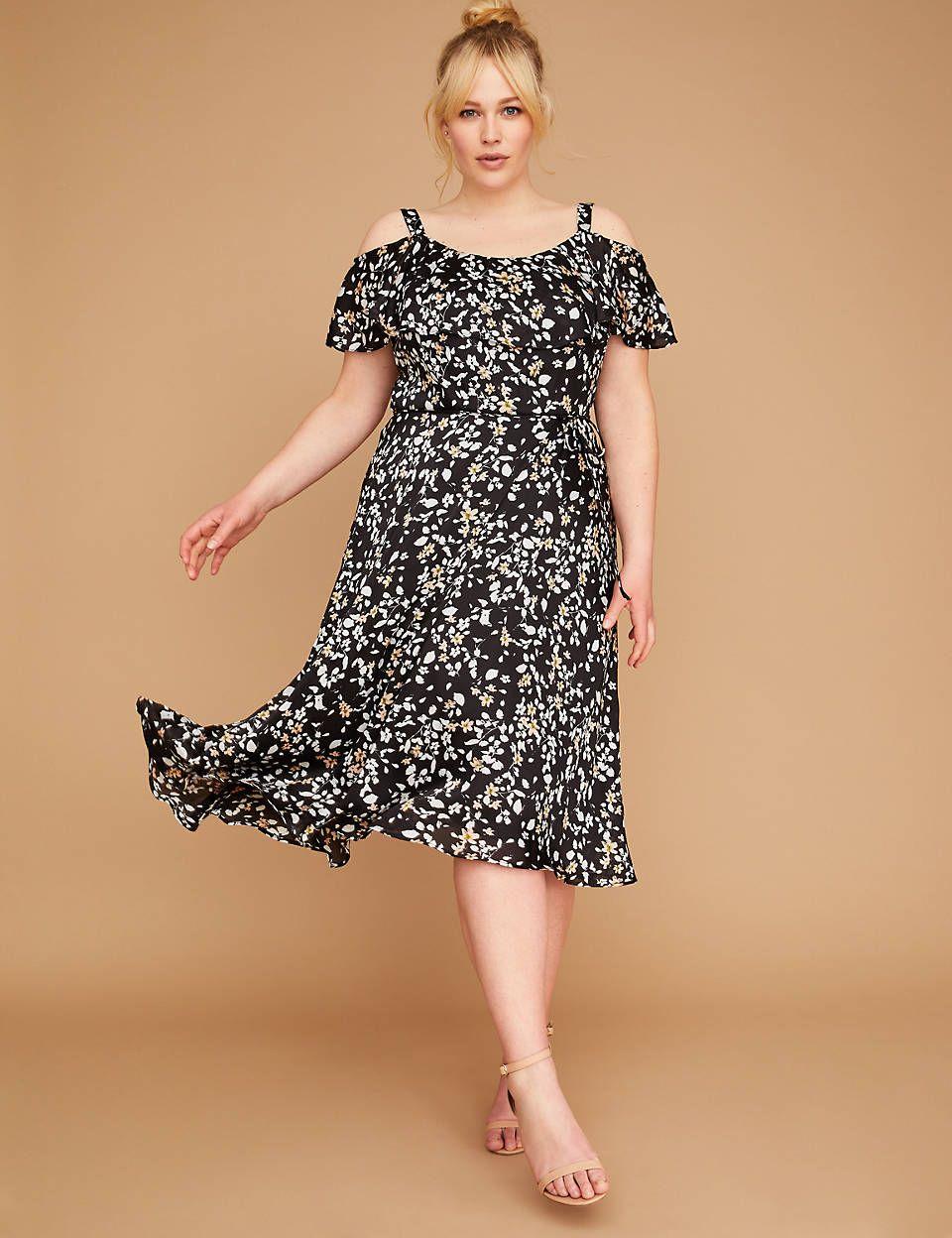 13760330e1d Floral Ruffle Sleeve Midi Dress