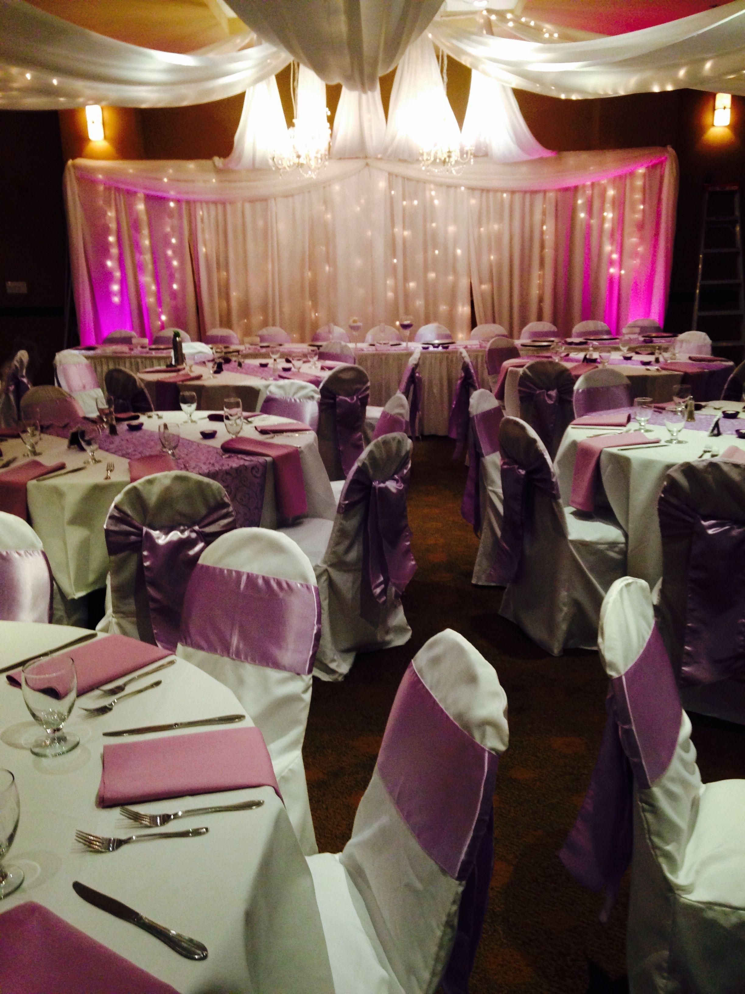 Parksville Beach Club Vancouver Island Nanaimo Parksville Venue Wedding Decor Wedding Rentals Chair Covers And Chair Wedding Rentals Ceiling Draping